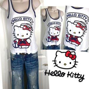 Hello Kitty Sailor Graphic Print Tank Top